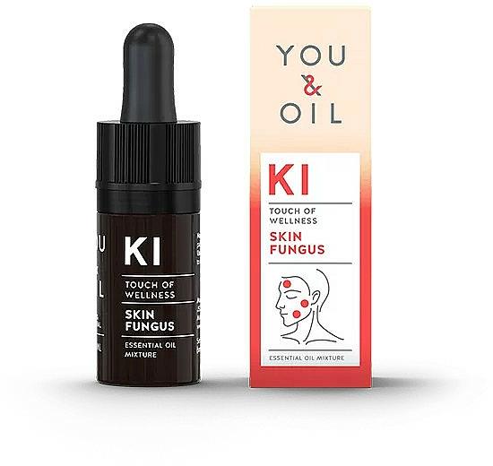 Mezcla natural de aceites esenciales para tratar infecciones por hongos - You & Oil KI-Skin Fungus Touch Of Wellness Essential Oil