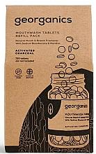 Perfumería y cosmética Recarga para tabletas de enjuague bucal con carbón activado - Georganics Mouthwash Tablets Refill Pack Activated Charcoal