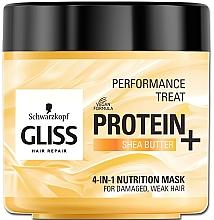 Perfumería y cosmética Mascarilla nutritiva 4 en 1 para cabello dañado y débil con proteína y manteca de karité - Schwarzkopf Gliss Kur Performance Treat