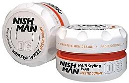 Perfumería y cosmética Cera moldeadora de cabello a base de agua, fijación máxima - Nishman Hair Styling Wax 06 Mystic Gummy