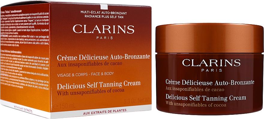 Crema autobronceadora para rostro y cuerpo con aroma a cacao - Clarins Delicious Self Tanning Cream — imagen N2