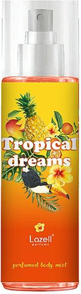 Lazell Tropical Dreams - Bruma corporal perfumada con aroma a frutas exóticas, jazmín e hibisco