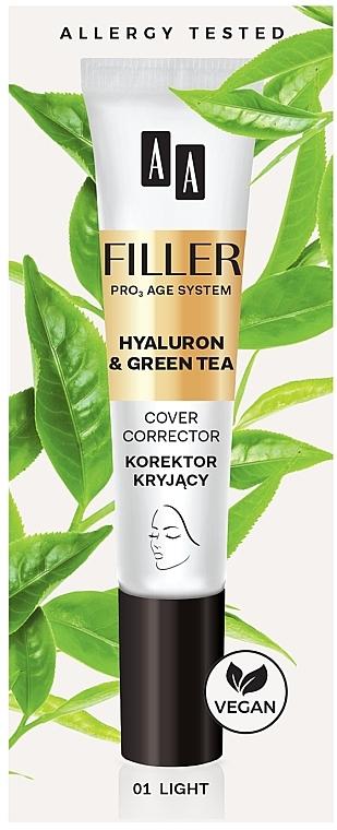 Crema facial correctora con ácido hialurónico y extracto de té verde - AA Filler Cover Corrector