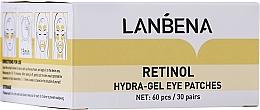 Perfumería y cosmética Parches de hidrogel para contorno de ojos con retinol y colágeno - Lanbena Retinol Collagen Eye Patch