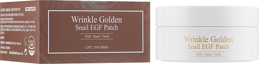 Parches de hidrogel para contorno de ojos con baba de caracol y extracto de oro - The Skin House Wrinkle Golden Snail EGF Patch