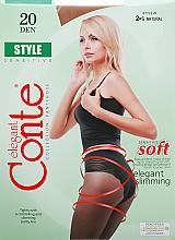 Perfumería y cosmética Pantis Style, 20 Den, natural - Conte