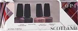 Perfumería y cosmética OPI Scotland Nail Lacquer Set - Set esmalte de uñas (4x3,75ml)