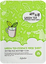 Perfumería y cosmética Mascarilla facial de tejido con extracto de té verde - Esfolio Pure Skin Green Tea Essence Mask Sheet