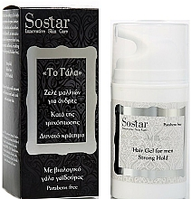Perfumería y cosmética Gel de peinado anticaída para hombres con leche de burra orgánica - Sostar Strong Hold Hair Gel For Men