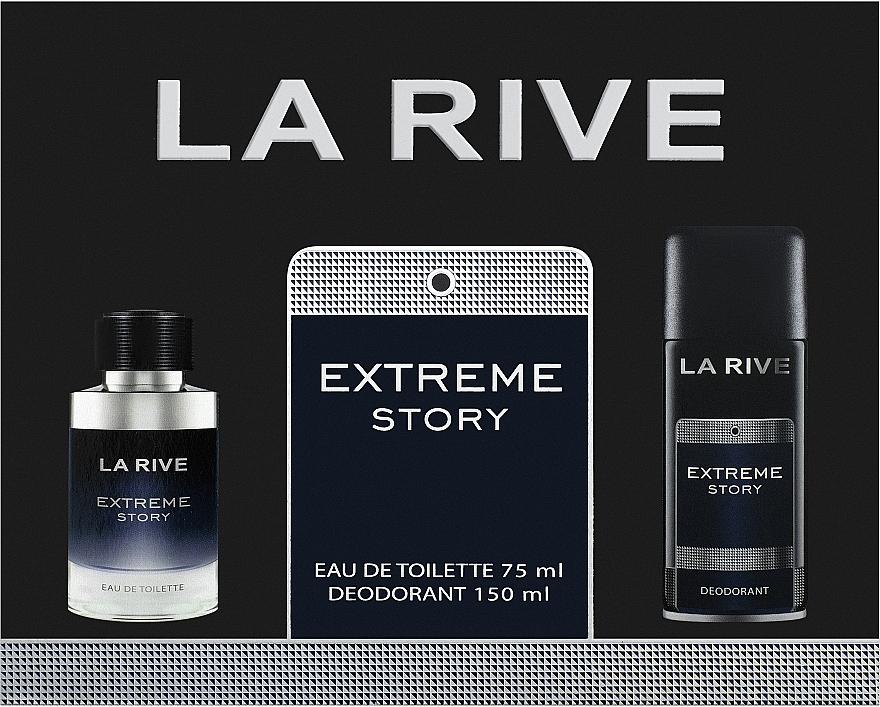 La Rive Extreme Story - Set (edt/75ml+desodorante/150ml)