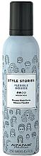 Perfumería y cosmética Mousse para cabello con fijación fuerte con aceite de recino - Alfaparf Style Stories Flexible Mousse Medium Hold