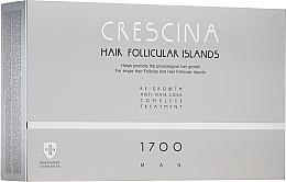 Perfumería y cosmética Tratamiento en ampollas anticaída del cabello para hombres 1700 - Crescina Hair Follicular Islands Man Complete Treatment 1700