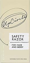 Perfumería y cosmética Maquinilla de afeitar unisex de seguridad cromada para rostro y cuerpo - UpCircle