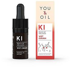 Perfumería y cosmética Mezcla de aceites esenciales para tos húmeda - You & Oil KI-Wet Cough Touch Of Wellness Essential Oil