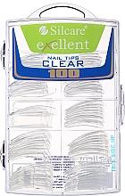Perfumería y cosmética Tips de uñas, transparentes, d/k - Silcare Tipsy Exellent Clear