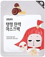 Perfumería y cosmética Mascarilla de algodón orgánico con extracto de baba de caracol, madreselva y colágeno - Yadah Collagen Mask Pack