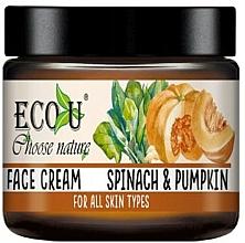 Perfumería y cosmética Crema facial con extracto de espinaca y calabaza - Eco U Pumpkins And Spinach Face Cream