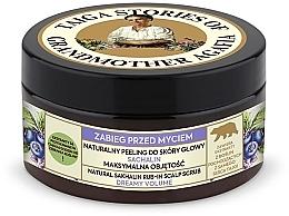 Perfumería y cosmética Exfoliante natural voluminizador para cuero cabelludo con extracto de arándano - Las recetas de la abuela Agafia Taiga Stories