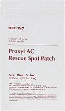 Perfumería y cosmética Parches locales antiacné con colofonia de pino para pieles problemáticas - Manyo Factory Proxyl AC Rescue Spot Patch