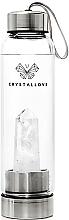 Perfumería y cosmética Frasco con cristal de cuarzo blanco, 500ml - Crystallove
