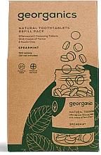 Perfumería y cosmética Paquete de recarga de 720 tabletas de enjuague bucal con sabor a menta - Georganics Mouthwash Tablets Spearmint Refill Pack