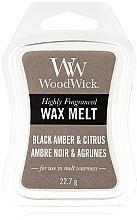 Perfumería y cosmética Cera para lámparas aromáticas, ámbar negro y cítricos - WoodWick Wax Melt Black Amber & Citrus