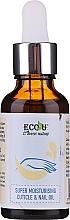 Perfumería y cosmética Aceite natural hidratante de uñas y cutículas con aceites de ricino y de almendras dulces - Eco U Cuticle & Nail Oil