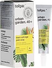 Perfumería y cosmética Crema revitalizante para contorno de ojos con extracto de turba - Tolpa Urban Garden 40+ Anti-Age Eye Cream
