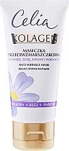Perfumería y cosmética Mascarilla antiedad para rostro, cuello y escote con colágeno, algas - Celia Collagen Mask