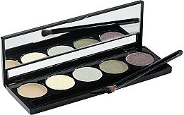 Perfumería y cosmética Paleta de sombras de ojos con aplicador y espejo, 5 colores - Peggy Sage Eye Shadows Palette Harmonie