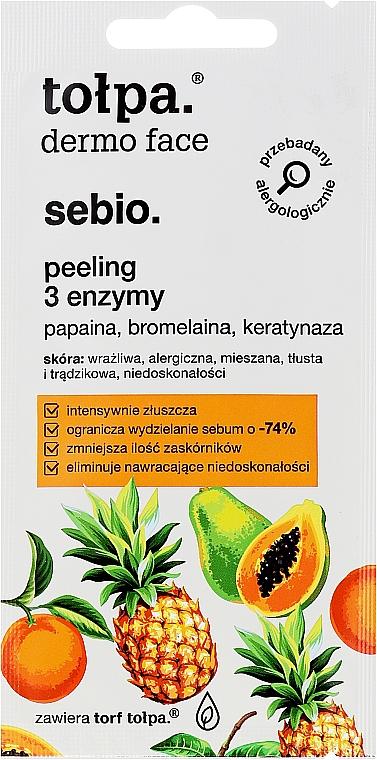 Exfoliante facial con enzimas de papaína y bromelina - Tolpa Dermo Face Sebio Cleansing Mask-Peeling (mini)