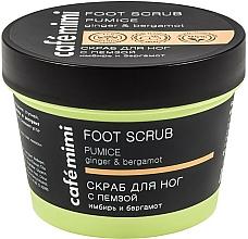 Perfumería y cosmética Exfoliante para pies con piedra pómez, extracto de jengibre y aceite de bergamota - Cafe Mimi Foot Scrub Pumice