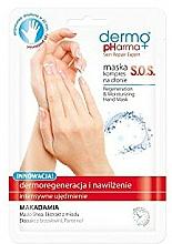 Perfumería y cosmética Mascarilla regeneradora y nutritiva para manos con manteca de karité y aceite de macadamia - Dermo Pharma Skin Repair Expert S.O.S. Regeneration & Moisturizing Hand Mask