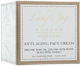 Perfumería y cosmética Crema facial antiedad con aceite de rosa y extracto de perla negra - Bulgarian Rose Lady's Joy Luxury Anti-Aging Face Cream