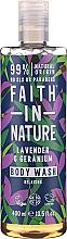 Perfumería y cosmética Gel natural de ducha con lavanda y geranio - Faith in Nature Lavender & Geranium Body Wash