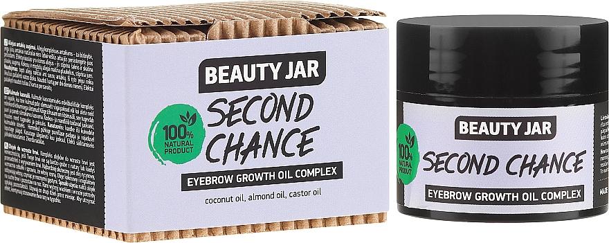 Aceite para crecimiento de cejas 100% natural de coco y almendra - Beauty Jar Second Chance Eyebrow Growth Oil Complex