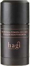 Perfumería y cosmética Loción corporal con aceite de espino amarillo, almendra y coco - Hagi