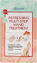 Perfumería y cosmética Tratamiento de manos multistep con extracto de manzana, pomelo y manteca de karité - Celkin Refreshing Multi Step Hand Treatment