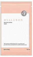 Perfumería y cosmética Mascarilla facial con ácido hialurónico y ceramidas - Dewytree Hyaluron Melting Chou Mask