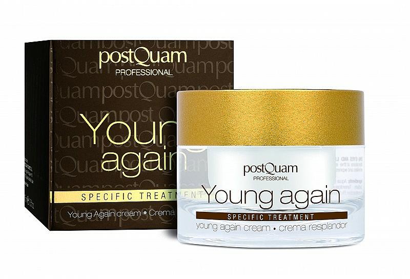 Crema rejuvenecedora para rostro y cuello con aceite de jojoba, aloe vera y alantoína - PostQuam Young Again Cream — imagen N1