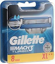 Perfumería y cosmética Recambios de cuchillas, 8uds. - Gillette Mach3 Turbo