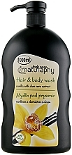Perfumería y cosmética Champú & Gel de ducha con vainilla y extracto de aloe vera - Bluxcosmetics Naturaphy Hair & Body Wash