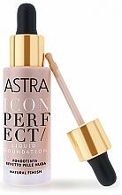Perfumería y cosmética Base de maquillaje líquida con acabado natural - Astra Make-Up Icon Perfect Liquid Foundation