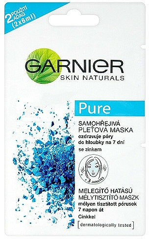 Mascarilla facial con arcilla & zinc - Garnier Skin Naturals Pure Mask — imagen N1