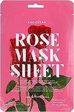 Perfumería y cosmética Mascarilla facial con extracto de rosa - Kocostar Slice Mask Sheet Rose