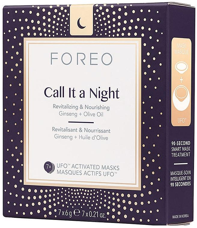 Mascarilla de noche regeneradora y nutritiva activada por UFO con ginseng y aceite de oliva - Foreo Ufo Call It a Night Mask