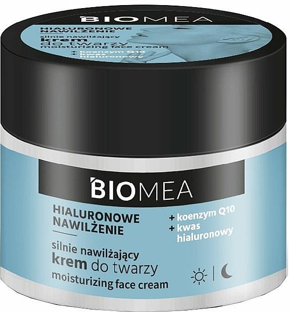 Crema facial hidratante con ácido hialurónico y coenzima Q10 - Farmona Biomea Moisturizing Face Cream
