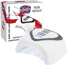 Perfumería y cosmética Lámpara LED de uñas, plateado - Ronney Profesional Rose LED 24W/48W (GY-LED-035) Lamp