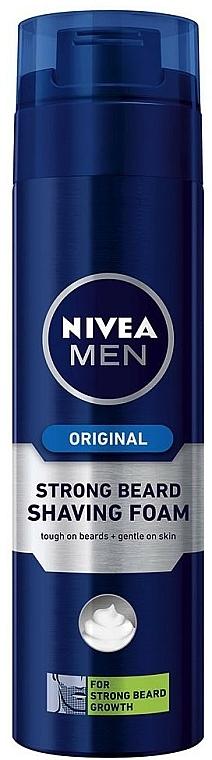 Espuma de afeitar para barba dura - Nivea For Men Strong Beard Shaving Foam — imagen N1