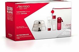 Perfumería y cosmética Shiseido Bio-Performance Time Fighting Ritual - Set facial antiedad (crema reafirmante/ 50ml + concentrado/10ml + espuma limpiadora/15ml + tratamiento suavizante/30ml + concentrado contorno de ojos/3ml + neceser)